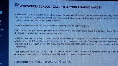 Images - Screen Capture with camera - Moire Pattern - Lorelle WordPress School