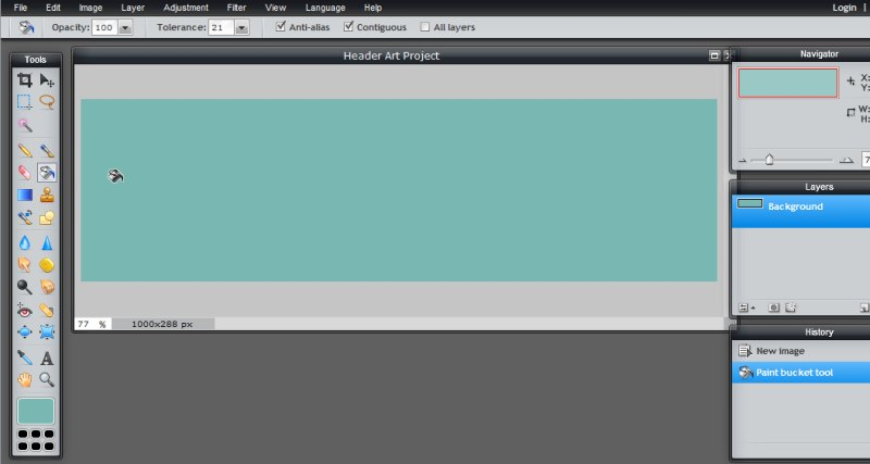 Images - Using Fill Tool for custom header in Pixlr - Lorelle WordPress School