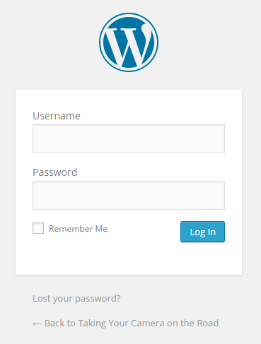 Screen capture of Login - WordPress login screen - Lorelle WordPress School.