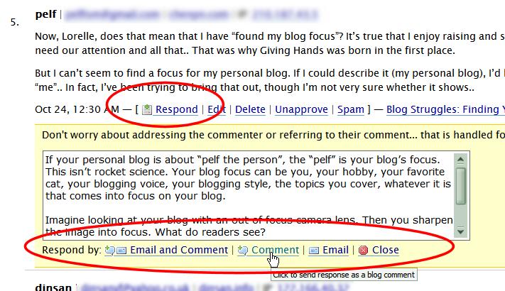 Screenshot of Browsers - User Scripts - Comment Ninja Greasemonkey Script for WordPress Comments by Engtech - Lorelle WordPress School.