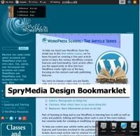 Screenshot of Browsers - Bookmarklets - Web Dev - SpryMedia Design bookmarklet - Lorelle WordPress School.