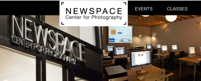 Newspace Photography Center in Portland Oregon sign and classroom.