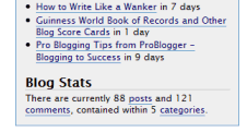 WordPress Dashboard Blog Stats