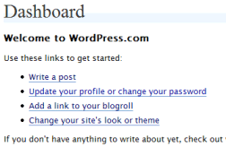WordPress Dashboard - Things to Do with WordPress