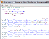 View Source of Web Page Code